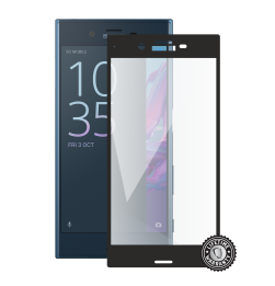 Xperia XZ F8331 Tempered Glass protection (full COVER black) ochrana displeje